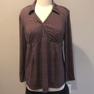 Motherhood Maternity Patterned Blouse Sz M
